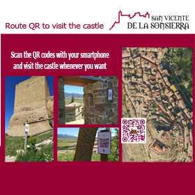 Scan the QR codes with your smarthphone and visit the castle whenever you want